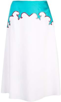 Ralph Lauren two-tone A-line skirt