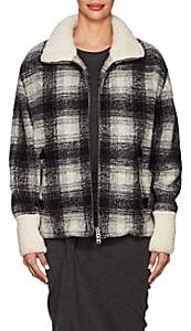 Etoile Isabel Marant Women's Gimo Checked Wool-Blend Bomber Jacket - Black