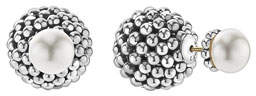 Lagos Caviar Pearl Front-Back Stud Earrings