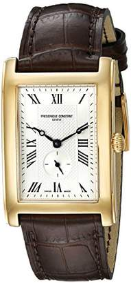 Frederique Constant Unisex FC235MC25 Carree Analog Display Swiss Quartz Brown Watch