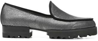 Donald J Pliner ELEN, Antique Metallic Leather Loafer
