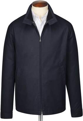 Charles Tyrwhitt Navy Harrington Cotton Jacket Size 36