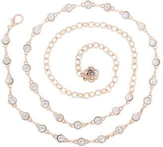 non-brand MagiDeal Lady Womens Bridal Rhinestones Waistband Chain Waist Strap Belt Dress Decor