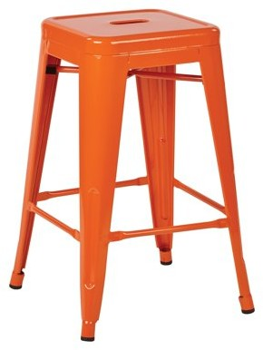 """Office Star OSP Designs by Products 24"""" Steel Backless Barstool (2-Pack)"""