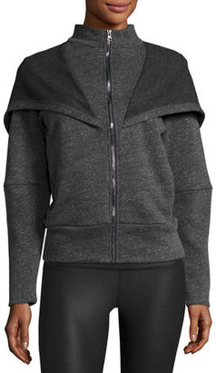 Alo Yoga Chill Hooded Sport Jacket, Jungle Heather $98 thestylecure.com