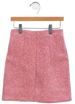 Marni Girls' Mohair A-Line Skirt