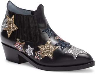 Chiara Ferragni Glitter Patches Leather Ankle Boot