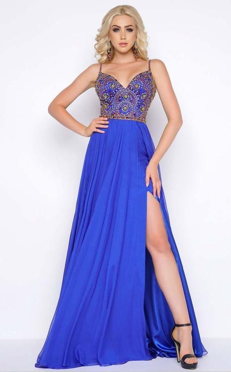 Cassandra Stone - 66028A V Neck Gown Style