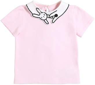 Simonetta Cotton Jersey T-Shirt W/ Sequins