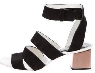 Proenza Schouler Suede Cage Sandals
