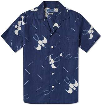 Blue Blue Japan Short Sleeve Indigo Dyed Swallow Shirt
