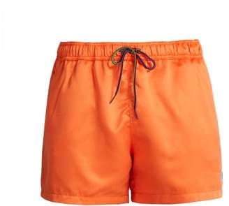 Paul Smith Zebra AppliquA Swim Shorts - Mens - Orange