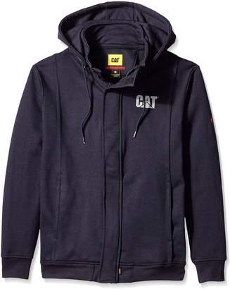 Caterpillar Flame Resistant 14.5 oz Full Zip Sweatshirt With Removeable Hood, FR Navy