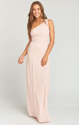Show Me Your Mumu Eliza One Shoulder Dress ~ Dusty Blush Crisp