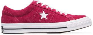 Converse pink One Star suede sneakers
