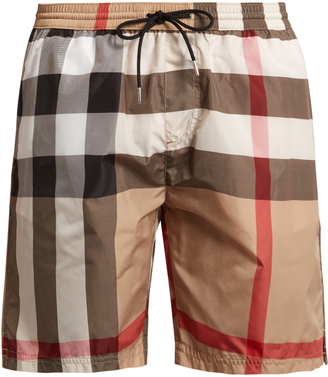 BURBERRY House-check swim shorts $181 thestylecure.com