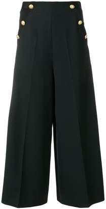 Lanvin button embellished culottes