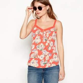 Mantaray Bright Orange Floral Print Camisole