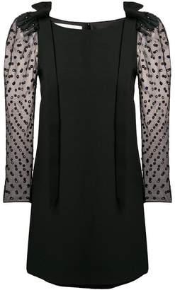 Valentino sequined puff-sleeve mini dress