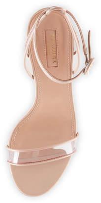 Aquazzura Minimalist PVC Block-Heel Sandals