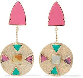 Kenneth Jay Lane Gold-Tone Resin And Stone Earrings
