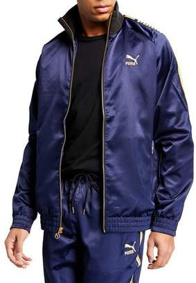 Puma Men's Luxe Pack Satin Track Jacket