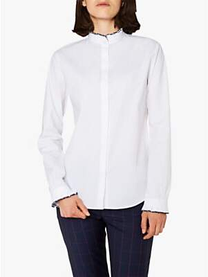 Paul Smith Frill Trim Shirt, White