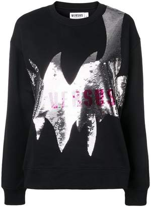Versus logo sequin sweatshirt