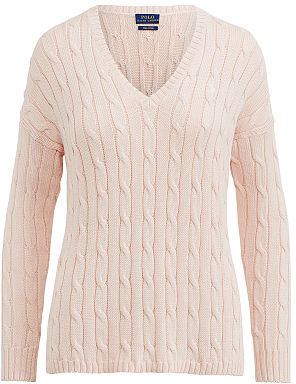 Polo Ralph Lauren Cable-Knit Side-Slit Sweater $125 thestylecure.com