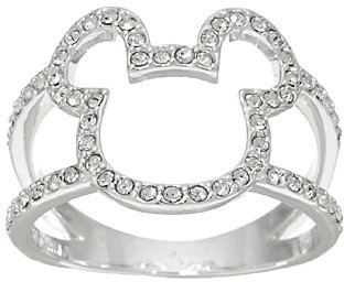 Disney Crystal Open Mickey Design Ring $19.96 thestylecure.com