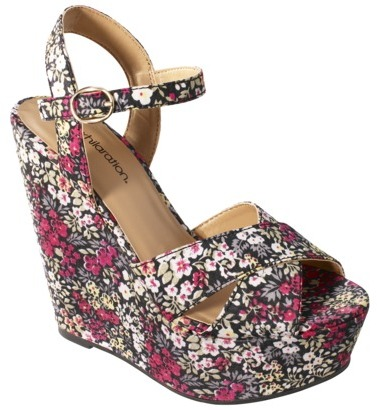 Women's Xhilaration® Silverleaf Print Wedge - Assorted Colors