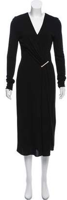 Jason Wu Brooch-Accented Midi Dress