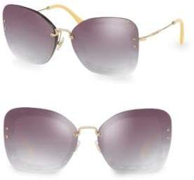 Injected Women's 65MM Square Sunglasses