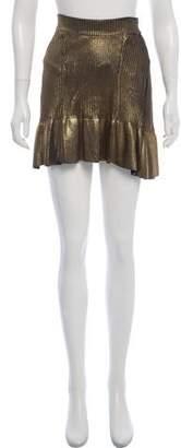 Ohne Titel Metallic Mini Skirt