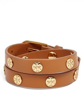 Women's Tory Burch Double Wrap Logo Bracelet $125 thestylecure.com