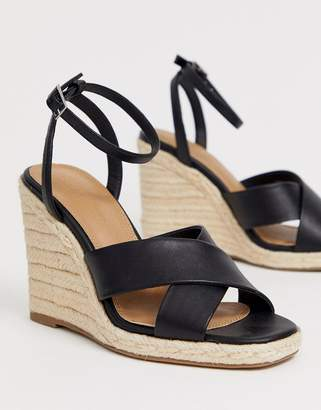 297303b71c Asos Design DESIGN Jones square toe wedge espadrilles