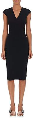 Victoria Beckham WOMEN'S CUTOUT-BACK COMPACT KNIT DRESS - BLACK SIZE 10 UK