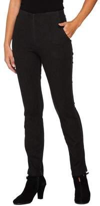 Denim & Co. Petite Slim Straight Leg Pull-On Jeans