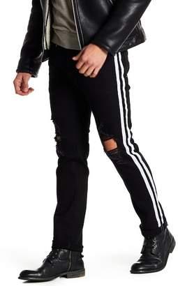 "X-Ray XRAY Distressed Stripe Standard Fit Jeans - 30-32\"" Inseam"