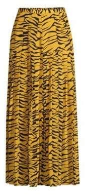Tina Drop Waist Tiger Print Maxi Skirt