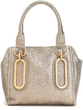 See by Chloe Paige Metallic Cracked-Leather Shoulder Bag