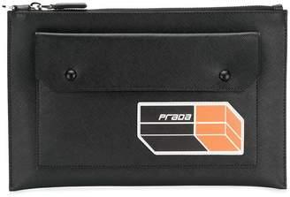 Prada large pocket clutch