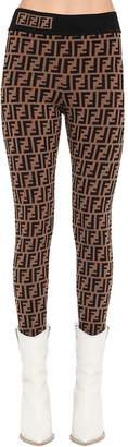 Fendi Logo Knit Leggings