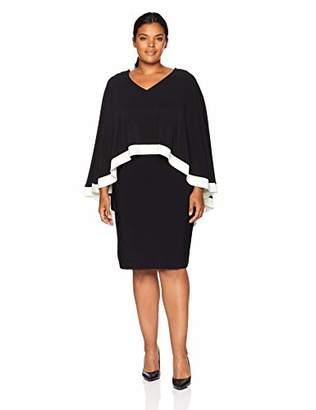 SL Fashions Women's Plus Size Cape Dress