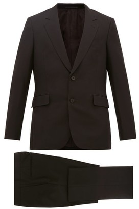 The Row Nolan Single Breasted Wool Blend Suit - Mens - Black