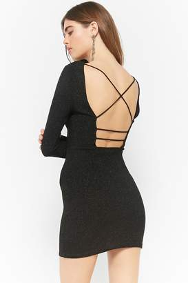 Forever 21 Glitter Caged Low-Back Bodycon Dress