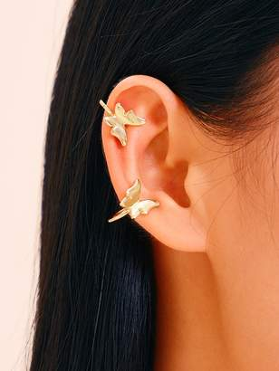 Shein Butterfly Decor Ear Clip 1pair