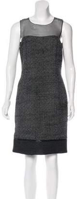 Andrew Gn Sleeveless Tweed Dress