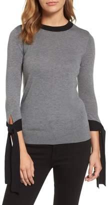 Halogen Tie Sleeve Crewneck Sweater
