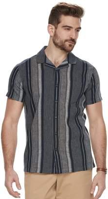Marc Anthony Men's Slim-Fit Resort Stretch Linen-Blend Button-Down Shirt